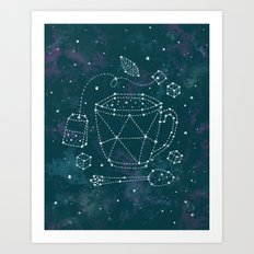 Tea Time Constellation Art Print