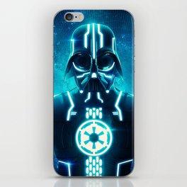 Tron Vader Blue iPhone Skin