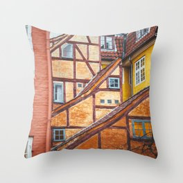 Scandinavian Architecture. Throw Pillow