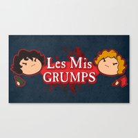 les mis Canvas Prints featuring Les Mis Grumps by juanjoltaire