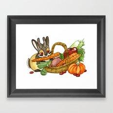 November Jackalope Framed Art Print