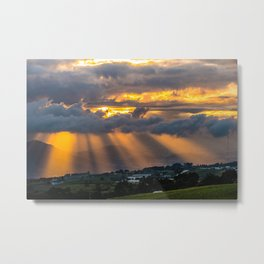 Sunset Cartago, Costa Rica Metal Print