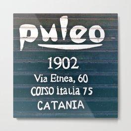 Via Etnea in Catania on the Isle of Sicily Metal Print