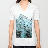 montreal V-neck T-shirts featuring Montreal 8278 by Korok Studios