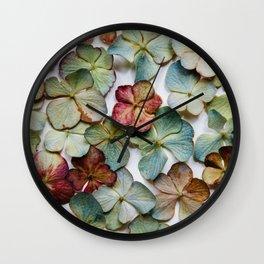 Hydrangea Petals no. 1 Wall Clock