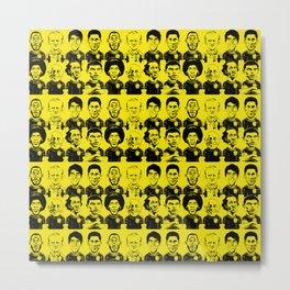brazils tars in yellow and black Metal Print