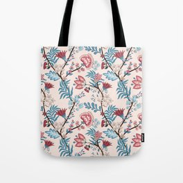 Vector illustration of a seamless floral pattern. Indian and oriental style Tote Bag