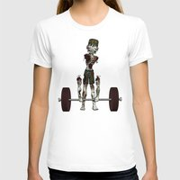 crossfit T-shirts featuring Crossfit Zombie by RonkyTonk doing Deadlift by RonkyTonk