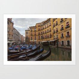 Venice. The rain Art Print