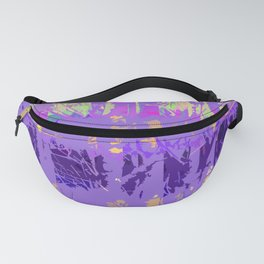 Abstract Forest Trees in Lavender and Lilac Fanny Pack