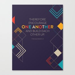 One Another Scripture Poster (1 Thessalonians) Canvas Print
