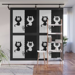 Cat and Mouse Wall Mural