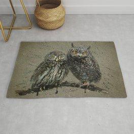 Little owl's background Rug