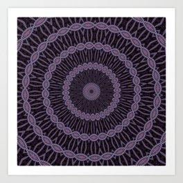 Lilac And Purple Circles Double Helix Mandala Pattern Art Print