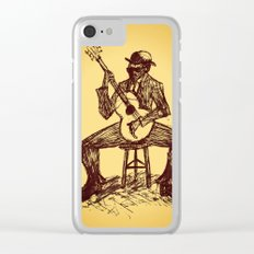 The Blues Man Clear iPhone Case