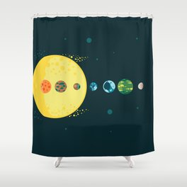 Trappist System Shower Curtain