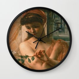 Edward Poynter - Psyche In The Temple Of Love Wall Clock