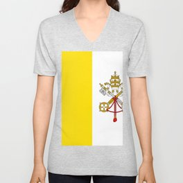 Vatican City Flag Unisex V-Neck