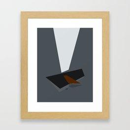 Somber Procrastination Framed Art Print