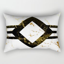 Abstract square golden marble pattern Rectangular Pillow