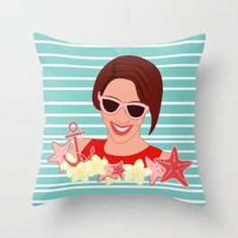 Summer Jewel Style Throw Pillow