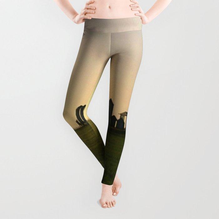 Wheat Silos Leggings