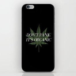 Don't Panic it's Organic Vintage Potleaf Print iPhone Skin