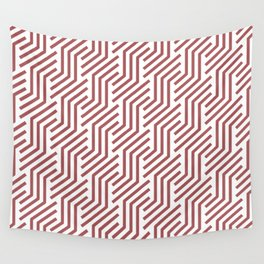 Red and White Tessellation Line Pattern 21 2022 Color Trends Behr Lingonberry Punch M150-6 Wall Tapestry
