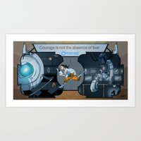 glados Art Prints featuring Portal Deco by Dojo