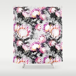 Floral pattern protea Shower Curtain