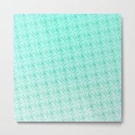 Gradient blue optic art pattern Metal Print