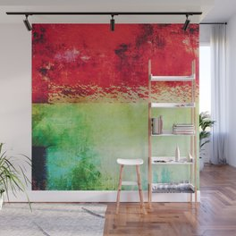 Modern Texture Red Abstract Wall Mural
