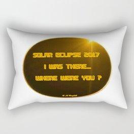 Solar Eclipse 2017:  Where Were You? Rectangular Pillow