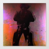 cowboy Canvas Prints featuring Cowboy by Joe Ganech