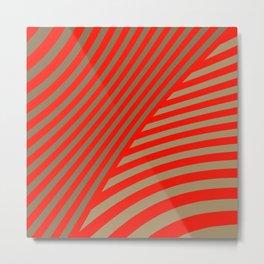 red stripes. red Metal Print