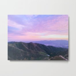 Serene Mountain Sunset Metal Print