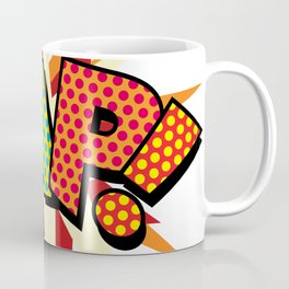 Comic Book Pop Art Sans ZAP! Coffee Mug