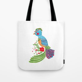 The Blue Quetzal Tote Bag