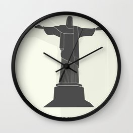 illustration of Statue of Christ in Rio de Janeiro Wall Clock