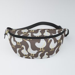 Geese On Brown Fanny Pack