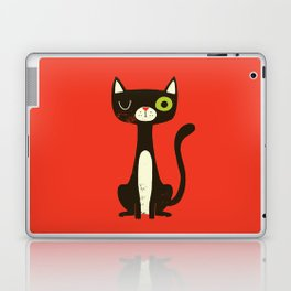 Black Cat Laptop & iPad Skin