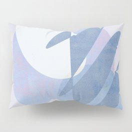 Minimal pebbles balance 1 blue and pink Pillow Sham