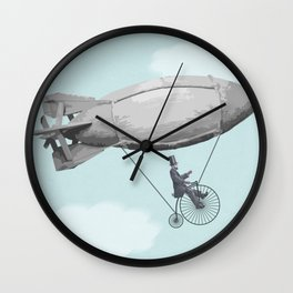 "The Old ""Lincoln on a Penny Farthing Zeppelin"" Dream Again Wall Clock"