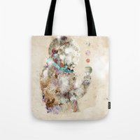 spaceman Tote Bags featuring spaceman by bri.buckley