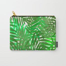Tropical leaves : green Carry-All Pouch