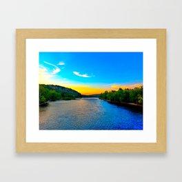 Sunset on the Delaware River Framed Art Print