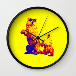 Ours Republique yellow Wall Clock