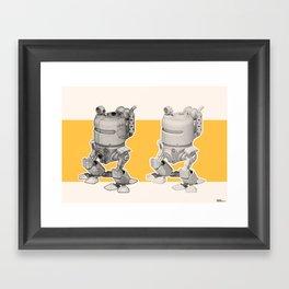 Exporers II - Robot Framed Art Print