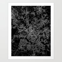 manchester Art Prints featuring Manchester  by Line Line Lines