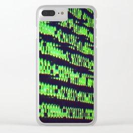 Binary Code Clear iPhone Case